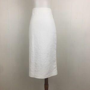 Marni White Midi Pencil Skirt Made In Italy 44